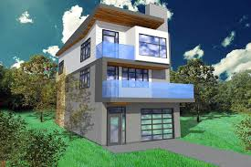House Plans For A Narrow Lot by Narrow Lot Contemporary Home Plan 84903sp Architectural