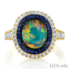 dark blue opal october birthstone where does opal come from