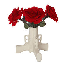 Vase With Roses Gun Flower Vase Ceramic Pistol Vase Uses Weapon To Make Peaceful