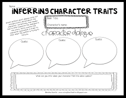 inferring character traits through dialogue plus a free graphic