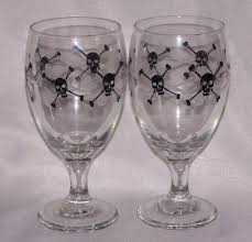 halloween goblets libbey glass halloween skeleton pirate water goblets on popscreen
