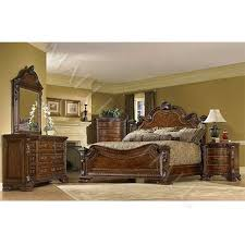 Wood Sleigh Bed Solid Wood Sleigh Bed With Cherry Veneer Inlays Yourstore A