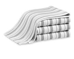 William Sonoma Kitchen Rugs Williams Sonoma Classic Striped Towels Set Of 4 Drizzle Grey