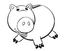 toy story alien coloring page toy story fat piggy bank coloring page color luna
