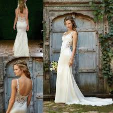 turmec spaghetti strap wedding dresses for the beach