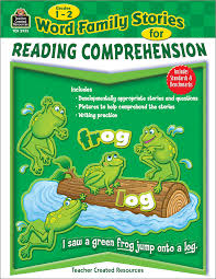 reading comprehension grade word family stories for reading comprehension grade 1 2 tcr2935
