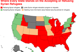 united states of islam map 2016 map every state accepting and refusing syrian refugees