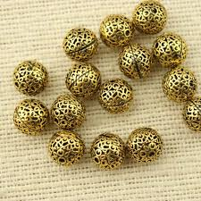 necklace making accessories images 10 pcs gold plated beads diy jewelry making supplies beads for jpg