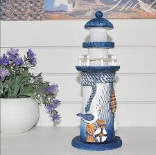aliexpress com buy mediterranean style lighthouse figurines wood
