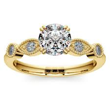 edwardian style engagement rings edwardian style antique engagement ring in yellow gold