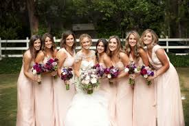 malibu bridesmaid dresses bridesmaid dresses blush bridesmaid gowns from real weddings