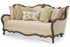 traditional sofas with wood trim michael amini villa valencia wood trim tufted sofa by aico