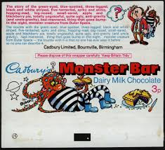 Describe It by 1970 U0027s Uk Cadbury Monster Bar Wrappers U2013 My Complete Series 1 And