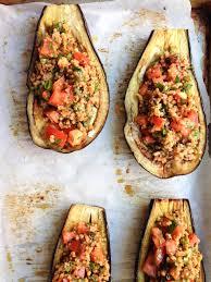 harissa stuffed eggplant