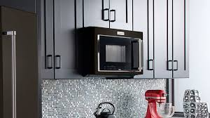 kitchenaid microwave hood fan kitchenaid 30 in w 1 9 cu ft over the range convection microwave