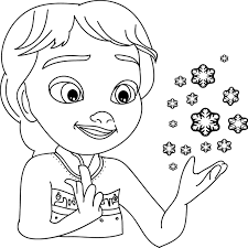 elsa magical coloring page wecoloringpage