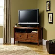 Design For Oak Tv Console Ideas Furniture Chic Brown Wooden Sauder Tv Stand With Storage On