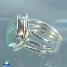 arkadia wedding band shaped aquamarine size 8 ring arkadia