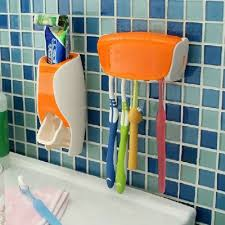 home necessities ez br01 creative toothbrush holder automatic toothpaste dispenser