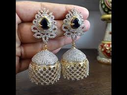 jhumkas earrings 1 gram gold jhumkas earring designs with weight and price