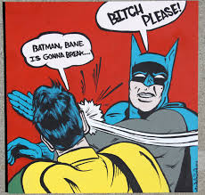Batman Robin Meme - retro batman slapping robin acrylic painting available in prints at