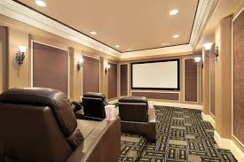 movie poster wall art glass coffee table basement home theater