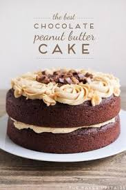the best chocolate cake with peanut butter frosting decadent