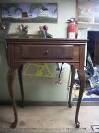 Singer Sewing Machine With Cabinet by 1941 Singer Queen Anne With Walnut Burl Sewing Machine Cabinet