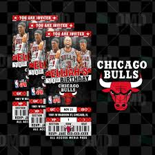Wedding Invitations Chicago Sports Invites Chicago Bulls Basketball Ultimate Party Package