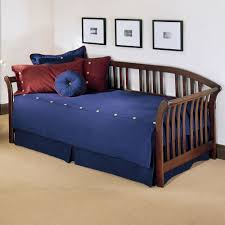 Wooden Daybed Frame Salem Wood Daybed In Mahogany Humble Abode