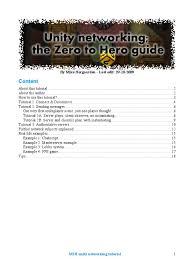 unity networking tutorial pdf m2h unity networking tutorial lag server computing