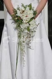 wedding flowers glasgow shop vintage style frilly tulip stocks cascading bridal bouquet
