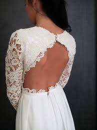 robe de mariã e dentelle dos robe de mariee sur mesure pour andréa en crepe de soie avec dos nu