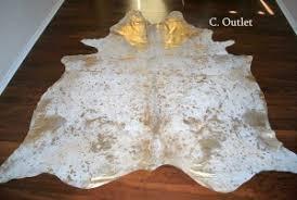 acid metallic wash cowhide cowhide rugs