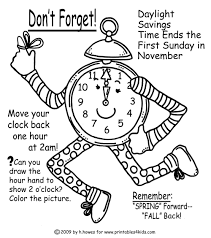 Fall Halloween Coloring Pages by Fall Time Change Reminder Coloring Page Printables For Kids