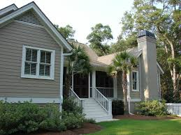 sherwin williams utterly beige exterior traditional with palm tree