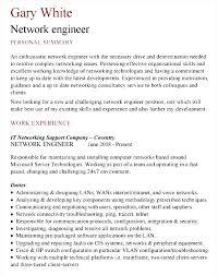 Network Engineer Sample Resume by Sample Network Engineer Cv Template Free Samples Examples
