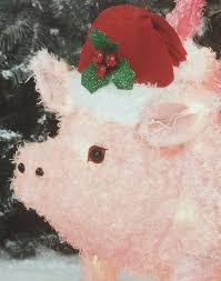 amazon com flying pig yard décor u2013 light up pig christmas