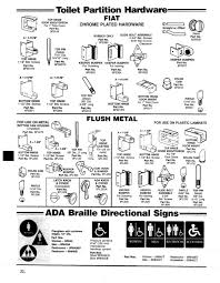 Toilet Partitions Toilet Partition Hardware Fiat U2022 Braille Signage Wielhouwer