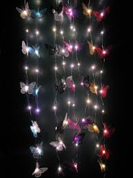 led light up glitter butterfly garland in a choice of colour new
