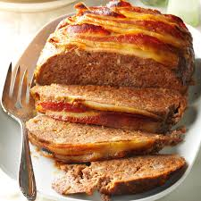 america s test kitchen meatloaf bacon topped meat loaf recipe taste of home