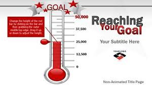 Reaching Your Goal A Powerpoint Template From Presentermedia Com Thermometer For Fundraising Template