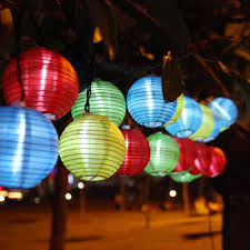Autumn String Lights by 2017 20 Led Outdoor 20 Led Lantern Shaped Solar Lamp String