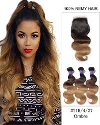 ombre hair weave african american free part 8 22 virgin brazilian lace closure with 3 bundles 1b 4