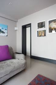 living room with walls in blackened no 2011 estate emulsion and