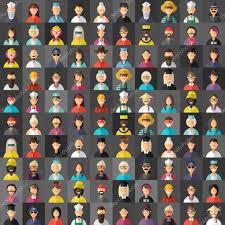 berufe mit design design style vector avatar hintergrund verschiedene menschen