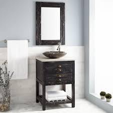 24 benoist reclaimed wood vessel sink vanity antique pine