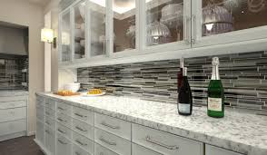 Starry Night Linear Mosaic Tile Kitchen Backsplash Contemporary - Linear tile backsplash