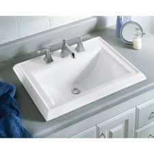 kohler memoirs classic drop in vitreous china bathroom sink in