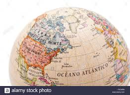 Map De Usa by Part Of A Globe With Map Of Canada Usa And Greenland Isolated On